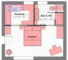 Parental Suite Plan With Bathroom And Dressing Room # 4 - Pla .- Parental Suite Plan With Bathroom And Dressing Room # 4 – Plan Parental Suite by lorraine -