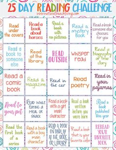 25 Day Reading Challenge for Kids - Natural Beach Living