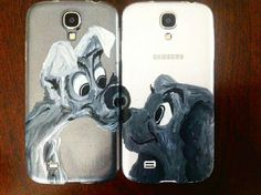 #dogs #love #black #white #handmade #painted #phonecase #accessorise