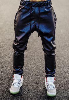 depthoverdesigner:  Leather Jogging Pants x Yeezy 2   FollowOverdeauxis, TheStreetfashion Bible!