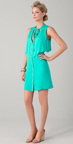 Rebecca Minkoff Amber Dress #rebeccaminkoff #amberdress #teal $268