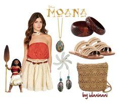 Disney's Moana Disneybound by iolaninani on Polyvore