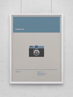 Illustration — Analog Cameras by Lorenza Venturi, via Behance