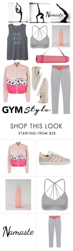 """Gym style yoga"" by babyou ❤ liked on Polyvore featuring adidas, Alo Yoga and Juvia"