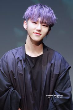 Hoshi in Violet Hair 😍😍😍😍 Jeonghan, Wonwoo, Seungkwan, Hoshi Seventeen, Seventeen Debut, Violet Hair, Purple Hair, Vernon, Wattpad