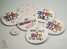 Pin / Badge Set - sweet and cute badges with lovely rainbow sentences + small pins FREE from B. Loves Plates ♥