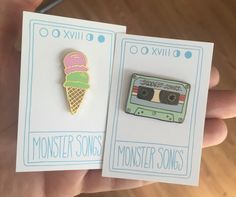 Pin Set by monstersongs on Etsy https://www.etsy.com/listing/242368504/pin-set