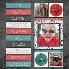 love the paper accents, colors are nice too, cute closeup of girls face Kids Scrapbook, Scrapbook Journal, Scrapbook Sketches, Scrapbook Page Layouts, Scrapbook Cards, Simple Scrapbooking Layouts, Weird Words, Photo Layouts, Scrapbooks