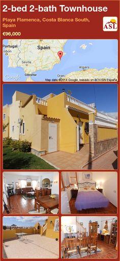 2-bed 2-bath Townhouse in Playa Flamenca, Costa Blanca South, Spain ►€96,000 #PropertyForSaleInSpain