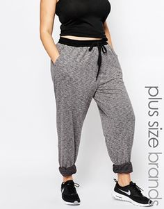 162ab243bed44 One+Day+Plus+Jogger+With+Contrast+Black+Waistband+