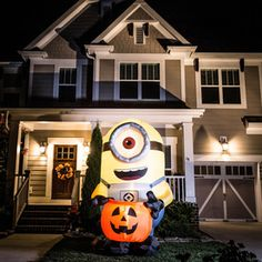Gemmy 8-ft x 5-ft Lighted Minion Halloween Inflatable