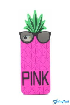 PINK Pineapple 3D iPhone Case [iPhone 5, 5s, 6, 6 Plus] - Shop our entire collection and get all the colors at www.getonfleek.com