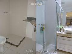 reformas de banheiros antes e depois - Pesquisa Google