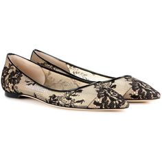 15138f47fbe2 Jimmy Choo Romy Lace Ballerinas (1.835 BRL) ❤ liked on Polyvore featuring  shoes