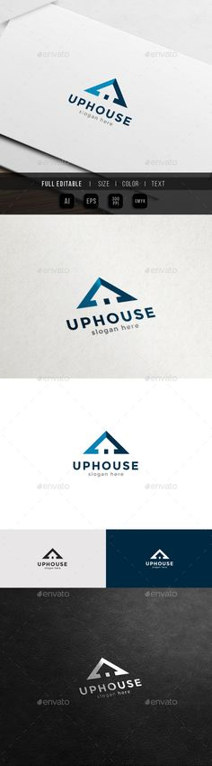 Up Home  Property and Real Estate Logo — Vector EPS #elevate #property • Available here → https://graphicriver.net/item/up-home-property-and-real-estate-logo/12908446?ref=pxcr