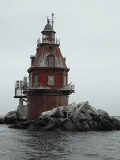 z- Ship John Shoal Lighthouse- Delaware Bay, NJ