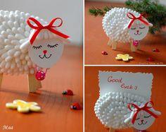 Cosa possono diventare dei comunissimi cotton fioc? Il manto di una tenera pecorella porta fortuna! :) #diy #diyideas