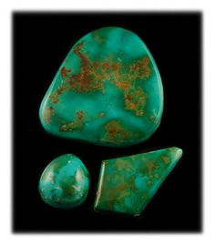 This is a collection of high grade Royston Turquoise Cabochons hand cut by John Hartman of Durango Silver Company. Royston Turquoise is known for its fantastic Nevada Green Turquoise.