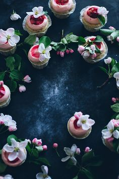 Sourcream Rhubarb Cupcakes with Ginger Cream via Call Me Cupcake