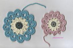 Anneliinin Aarteet : Japanilainen kukka Japanese Flowers, Knit Crochet, Crochet Earrings, Daisy, Mandala, Diy Crafts, Sewing, Knitting, Jewelry