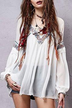 2015 hot vente femmes tops mode en vrac en mousseline de soie casual blouse chemise lanterne manches vintage imprimé femme chemise dans Chemises et Chemisiers de Accessoires et vêtements pour femmes sur AliExpress.com | Alibaba Group