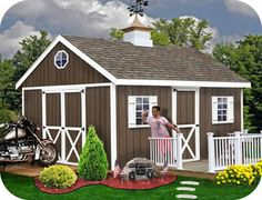 Easton 16x12 EZup Wood Storage Shed Kit