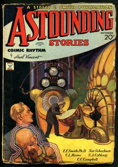 Astounding Stories, Feb. 1934, cover art by Howard V. Brown