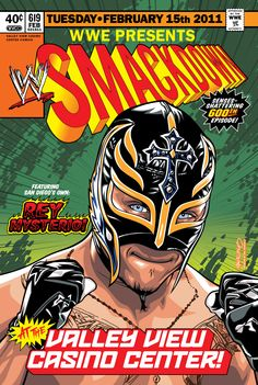 Commemorative poster for the WWE Smackdown at the Valley View Casino Center on… Wrestling Superstars, Wrestling Wwe, Rey Mysterio 619, Wwe Lucha, Eddie Guerrero, Wwe Toys, Stone Cold Steve, Wwe Champions, Sporting Live