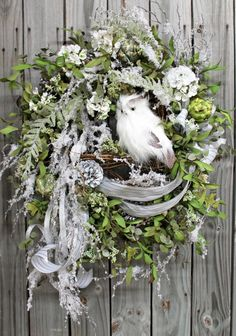 Winter Wonderland Winter and Christmas Wreath by FloralsFromHome, $196.00