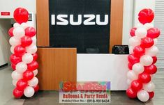 Inauguration of Isuzu Pasig Visit their new office located at E. Rodriguez Jr. Ave. Cor Calle Industria, Brgy. Bagumbayan, Quezon City (near Eastwood Libis) #balloondecorsPasig #balloonsPasig #balloonscarshowroom #shairishballoons Balloon Pillars, Quezon City, Balloon Decorations, Jr, Balloons, Anniversary, Store, Party, Globes