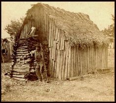 """Once """"freed"""", many of the former slaves and their children had no where to go. These are the houses built mostly during the """"Slave Years"""" --- before the Civil War, and Lincoln's """"Emancipation Proclamation"""" ."""