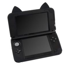 Silicon Soft Case Cover For Nintendo 3DS LL With Cat Ears Skin black in Video Games & Consoles, Video Game Accessories, Cases, Covers & Bags | eBay