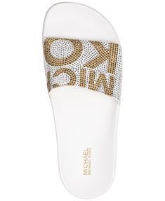 0b1b035d5622 Image 3 of MICHAEL Michael Kors Women s Gilmore Pool Slide Sandals Michael  Kors Slides