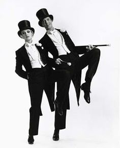 """Tommy Tune and Twiggy in """"My One and Only""""."""