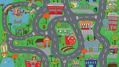 Hoffman Fabrics: K5000 130-Multi. Wheelie Fun Town gives ...