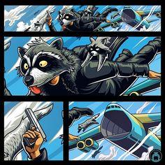 Racoon by Angga Tantama on Dribbble Gaming Banner, Youtube Banners, Racoon, Gta, Cyber, Digital Art, Illustration Art, Batman, Deviantart