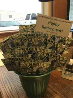 Scratch ticket retirement gift I made