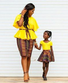 In love!!!! Mother and daughter check more styles >>> http://maboplus.com/beautiful-ladiesaso-ebi-styles-for-pretty-/