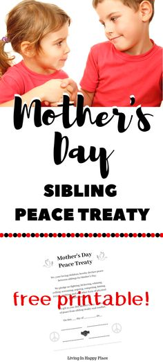 Looking for a DIY Mother's Day gift that Mom really wants? This free printable sibling peace treaty is the only Mother's Day gift idea you need! Best Mother's Day gift from kids ever! Best Mothers Day Gifts, Diy Gifts For Mom, Diy Gifts For Boyfriend, Mothers Day Crafts, Sibling Fighting, Diy Christmas Presents, Diy Wedding Bouquet, Gifted Kids, Mother's Day Diy