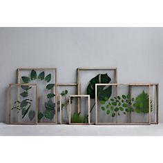 Ein Rahmen – mehr nicht. Reduziert auf die pure Form und bestehend aus zwei Acrylglasscheiben, vier Leisten aus... - Rahmen Frame, Holz
