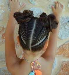 Braided Hairstyle、Children、Kids、For School、Little Girls、Children's Hairstyles、For Long Hair;Cute Child;Children's Photo Hair is a reflection of a girl's identity and her personality. It is not just very personal, but public too, as it sets the tone… Childrens Hairstyles, Girls Natural Hairstyles, Easy Hairstyles For Medium Hair, Baby Girl Hairstyles, Kids Braided Hairstyles, Girl Haircuts, Pretty Hairstyles, Short Hairstyles, Cute Kids Hairstyles