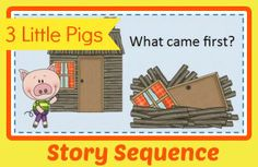 Free printable worksheets for use with the 3 Little Pigs book!
