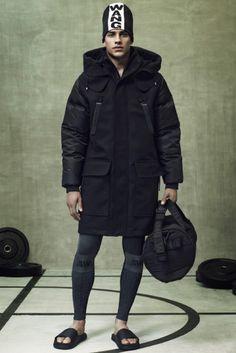 Alexander Wang oversized parka jacket. // Alexander Wang for H&M