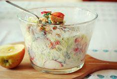 Moje Dietetyczne Fanaberie: Sałatka z kurczakiem i słodkim jogurtowym sosem Potato Salad, Oatmeal, Pudding, Breakfast, Ethnic Recipes, Desserts, Food, Aga, The Oatmeal