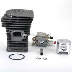 New SAVIOR Carburetor Carb Cylinder Piston Kits for HUSQVARNA 340 345 Chainsaw Parts 503283208, 503 28 32-08 #Affiliate