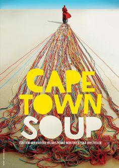 Filmposter design for Cape Town Soup  http://www.capetownsoup.wachtendemannetjes.nl/