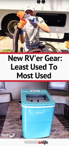 Are you new to rv'ing and wondering what gear you need? Check out this article on what one full time rv'ing family found to be their most used and least used items. Whether you are living the rv lifestyle, are weekend warriors, or planning a summer road trip these tips are for everyone. From ice makers, a tow dolly, to a portable grill, and so much more. Find out which items they use all the time, and which ones they don't. Travel Trailer Accessories, Rv Accessories, Ice Makers, Portable Grill, Small Campers, Road Trip Adventure, Rv Parks, Rv Travel, Rv Life