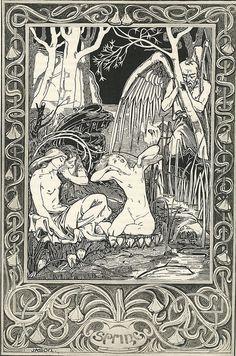 Beautiful Vintage Book Illustration
