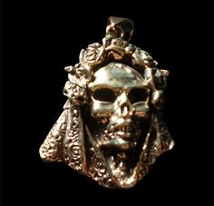 Bronze Santa Muerte/Saint Death Mexican Pendant - Free Shipping/In Stock #Handmade #Pendant