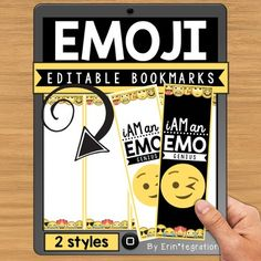 Free Emoji Editable Bookmarks! Would make a great back to school gift for your students!